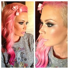 Makeup by me on @Jenna Nelson Jameson!! Loving her new my little pony hair color,used NuMe Titan 3 wand to curl her hair!! @Debbie Lewis Style Products #jennajameson #iluvsarahii #maccosmetics #nume #numestyle #cottoncandy - @Karen Jacot Gonzalez- #webstagram