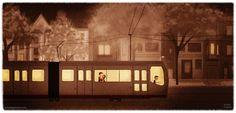 """night train"" print by nidhi chanani (11x14) medium - $30"