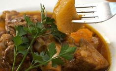 Italian Lamb Stew Recipe with Potatoes, Almonds and Mint