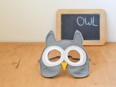 Owl dress up mask for children