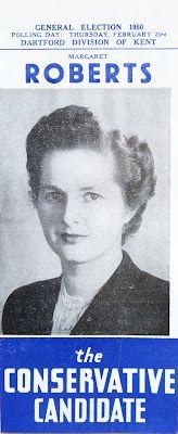 Margaret Roberts (later Thatcher), 1950.