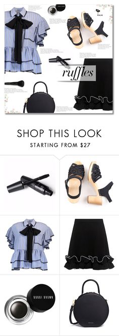 """Kulikstyle"" by smajlovicelvira ❤ liked on Polyvore featuring MSGM, Boutique Moschino, Bobbi Brown Cosmetics and Mansur Gavriel"