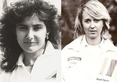 Audi factory drivers Michèle Mouton and Fabrizia Pons, with four WRC victories in 1982.