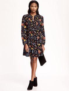 Pintuck Swing Dress for Women $36.94