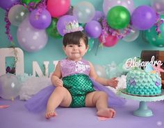 Our Beautiful romper part of our Merbabe Sparkle Romper collection. Sequin Top: Lavender Bottom Fabric: Emerald mermaid scales with Lavender Tutu Birthday Cake For Mom, Birthday Board, 1st Birthday Girls, Birthday Ideas, Shower Outfits, Baby Shower Dresses, Shower Party, Baby Shower Parties, Mermaid Tutu