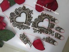 YouTube heart shape henna design