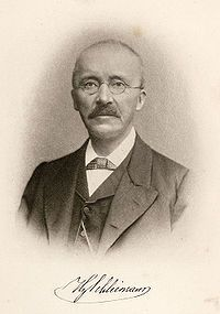 Heinrich Schliemann - HE IS BELIEVED TO BE THE FOUNDER OF THE ANCIENT CITY OF TROY.  I READ HIS AUTOBIOGRAPHY AND FOUND IT INTERESTING, EVEN THOUGH IT WASN'T ENTIRELY FACTUAL.