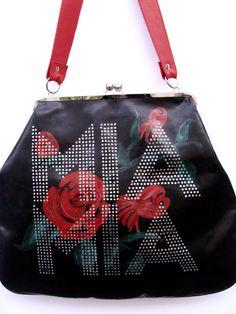 Mia Mia handbag with roses print
