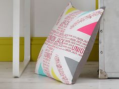 This Colours Trimelone cushion will create a new look for your room, mixing it up with bold intense colours. Printed Cushions, Union Jack, Soft Furnishings, Pattern Fashion, Colours, Patterns, Reading, Create, Prints