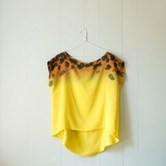Ombre Silk Shirt.  Cheetah  hand dyed and painted blouse. by XSILK, $145.00