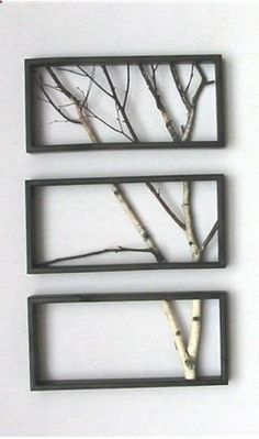 DIY wall art from twigs