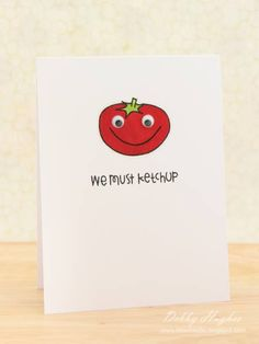 Adorable! I love puns like this! Imagine getting a cute card like this in the mail.