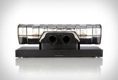 Een soundbar gemaakt van een Porsche-uitlaat.... why not? #Porsche #soundbar #muziek