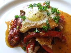 Shakshouka ( Tunisian Tomato & Pepper Stew with Eggs ) | Lisa's Kitchen | Vegetarian Recipes | Cooking Hints | Food & Nutrition Articles