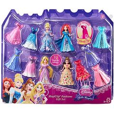 Disney MagiClip Fashions Gift Set Disney Princess Dolls, Princess Toys, Disney Princess Dresses, Disney Dolls, Toddler Girl Gifts, Toddler Toys, Baby Disney, Disney Frozen, Clip Dolls