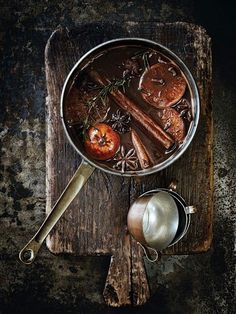 Orange, Cinnamon, Star Anise, Cloves water...simmer on low.