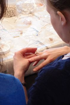 Design and make your own statement rings using glass beads, Swarovski crystals and pearls at a crafty hen party! #activities #bridetobe #DIY #Jewellery