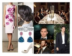 """Attending a dinner in honor of her younger brothers' birthdays and afterwards receiving a call from Raphael to inform her of his deployment"" by irenaofslovenia ❤ liked on Polyvore featuring Etro, Betteridge, Emilia Wickstead and Sergio Rossi"