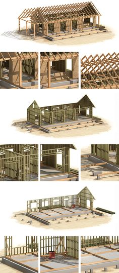 Canadian wood-frame house construction on Behance