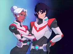 Keith and Princess Allura the Red Paladins of Voltron from Voltron Legendary Defender Voltron Klance, Voltron Allura, Voltron Memes, Voltron Fanart, Form Voltron, Voltron Ships, Log Horizon, Teen Titans, Rwby
