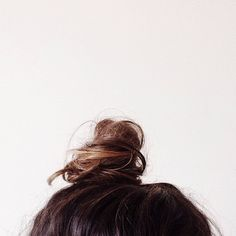 Minimal + Classic: top knot with a twist