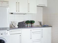 Kosketus - valkoinen 1. Utility Room, Kitchen Cabinets, Decor, Kitchen, Home, Cabinet, Laundry Room, Home Decor, Room