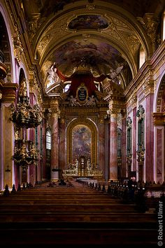Jesuit Church in Vienna. Oh my gosh, that is breathtakingly gorgeous.