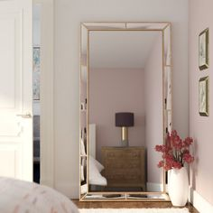 Found it at Wayfair - Rectangle Floor Wall Mirror Floor Mirror, Wall Mirror, Mirror Plates, Apartment Living, Living Room, Home Bedroom, Home Interior Design, Decorative Pillows, New Homes