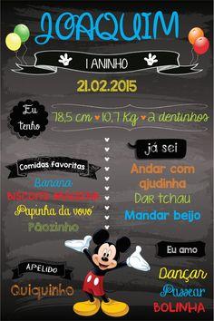 Chalkboard ou Quadro Negro tema Mickey