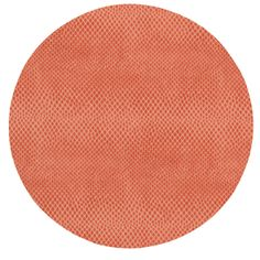 Coral Round Snakeskin Felt Back Placemat - 1 each