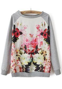 Patchwork Flowers. #print #hoodie