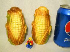 Corn Cob salt pepper shakers Japan by BoondockFinds on Etsy