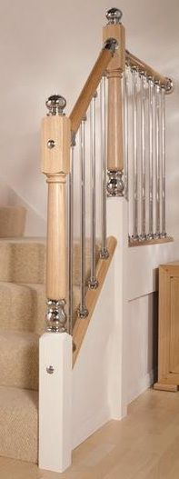 Axxys Chrome Ball Cap - AXBC #stairs newel post caps offering a modern touch to your #staircase. www.shawstairs.com