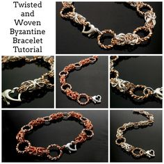 Twisted and Woven Byzantine Bracelet Tutorial - Expert PDF