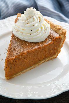 Chai Spice Pumpkin Pie - Baker by Nature