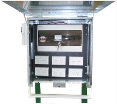Temporary Power Site Board Includes 5 x 10A DGPO, 1 x 15A SGPO, c/w Stand & 20Amp 5 Pin Outlet    $930 + GST