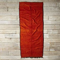 I love the Found Moroccan Rug - Red Orange Shag on westelm.com