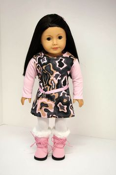 American Girl Doll ClothesCamo Dress Tights and by sewurbandesigns, $20.00