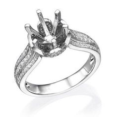 14K White Gold .50Ctw 6 Prong Diamond Mounting