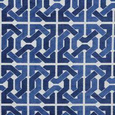David Hicks for Groundworks Cliffoney Blue/White