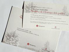 Invitació Concert Nadal, Fundació Blanquerna 2002 #design #university #Blanquerna