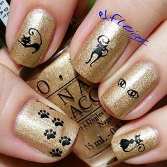 Welcome to Messy Mansion! We carry nail plates, stamping polish, nail stamping tools and much more for salon and personal use! Cat Nail Art, Animal Nail Art, Cat Art, Chic Nails, Fun Nails, Super Cute Nails, Nail Stamping Plates, Jamberry Nail Wraps, Nail Envy
