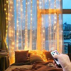 Fairy Light Curtain, Led Curtain Lights, Led String Lights, Hanging Lights, Light String, Fairy Light Decor, Wall Lights, Led Garland, Light Garland