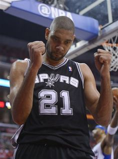 San Antonio Spurs center Tim Duncan
