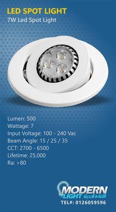 LED SPOT LIGHT MODERNLIGHT - JEDDAH - TEL#: 0126059596 #Modernlight, #modernlightJeddah, #modernlightksa