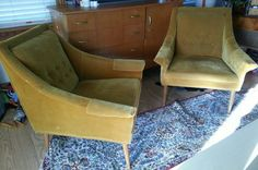 Check out this item in my Etsy shop https://www.etsy.com/listing/262992746/vintage-chairs-mid-century-modern-living