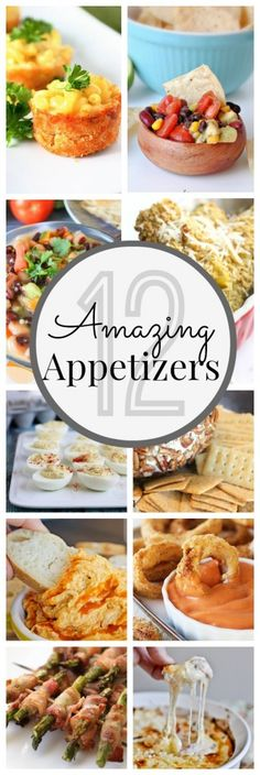 12 Awesome Appetizers - www.classyclutter 12 Awesome Appetizers - www. Finger Food Appetizers, Yummy Appetizers, Appetizers For Party, Finger Foods, Appetizer Recipes, Tapas, Antipasto, Snacks, Appetisers