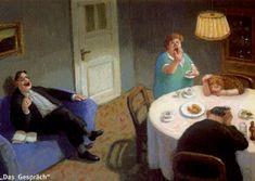 Ontwerp: Michael Sowa. Het gesprek. Postkaart te bestellen: www.postersquare.com