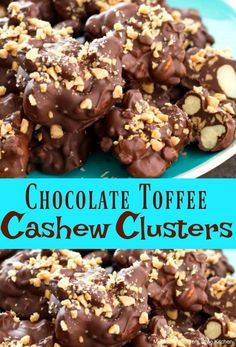Toffee Cashew ClustersYou can find Chocolate candy and m.Chocolate Toffee Cashew ClustersYou can find Chocolate candy and m. Homemade Toffee, Homemade Candies, Homemade Desserts, Homemade Chocolates, Homemade Candy Recipes, Chocolate Candy Recipes, Chocolate Sweets, Chocolate Muffins, Fudge Recipes