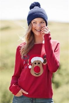 Red Boxy Sweater from Next